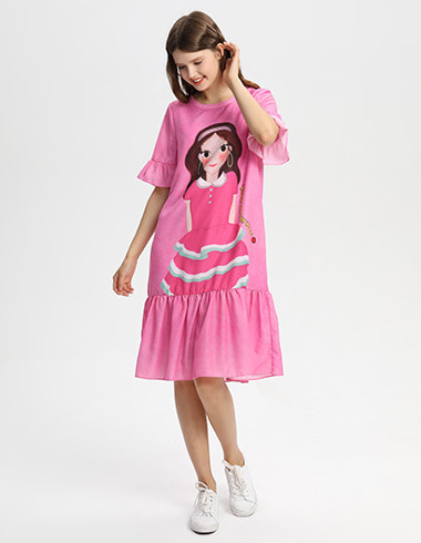 *20% SALE* Frill Dress Pink Luna