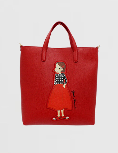 Patch Cava bag M red ria (cross / tote)