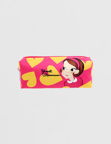 heart pencilcase yellow ria