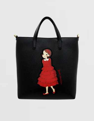 Patch Cava bag M black ria (cross / tote)