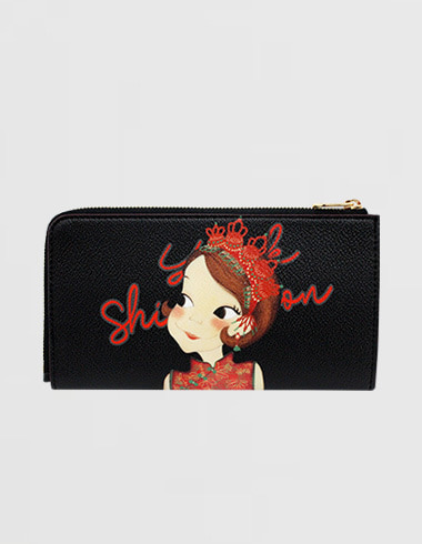 Slim Zipper wallet. L Shanghai Ria