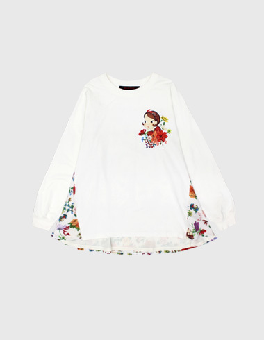 *60%SALE* blossom frill sweat shirt (man-to-man) white ria