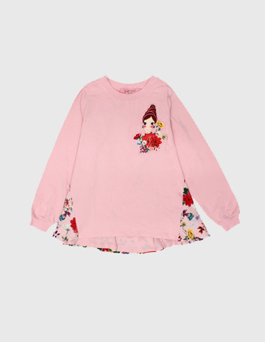 *60%SALE* blossom frill sweat shirt (man-to-man) pink pia