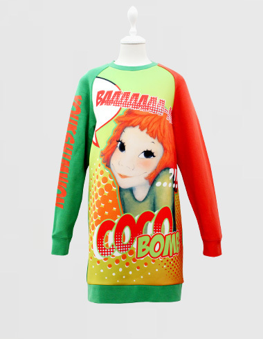 Neo lettering long sweat-shirts Coco