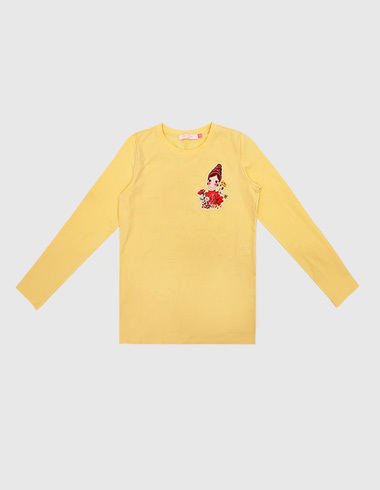 *30%SALE* basic long sleeve t-shirt yellow pia